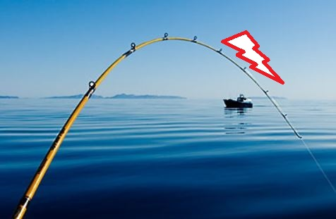 azione canna da pesca